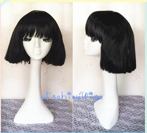 Lady Gaga Party Cosplay Wig, White Blonde / Black Short Costume Anime Cosplay Wigs for Party UF088 ()