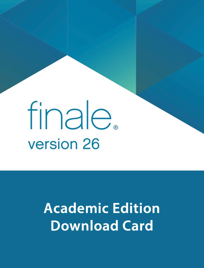 Makemusic Finale 26 Academic Edition Music Notation Software Download Card by Makemusic