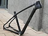 903# Toray Carbon MTB Frame Full Carbon UD Matt Mountain Bike 27.5ER 650B Bicycle Frame 17'' Headset