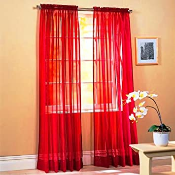Red Curtains amazon red curtains : Amazon.com: SET OF 2, 84