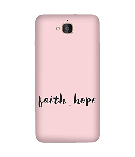 new arrival 504f0 38e6c Faith Hope Back Cover Case for Huawei Honour 6 Plus: Amazon.in ...