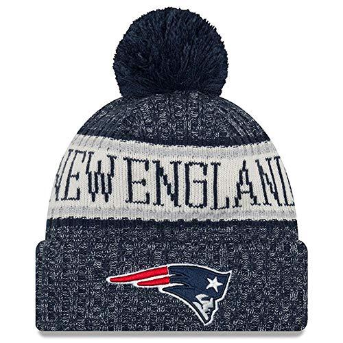New England Patriots Wool - New Era Knit New England Patriots Biggest Fan Redux Sport Knit Winter Stocking Beanie Pom Hat Cap NFL