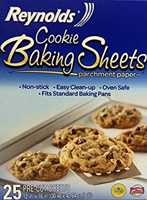 Reynolds Consumer Cookie Baking Sheets Non-stick Parchment Paper, 25 Count