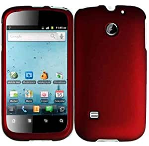 Hard Red Case Cover Faceplate Protector for Huawei Ascend II 2 M865 with Free Gift Reliable Accessory Pen