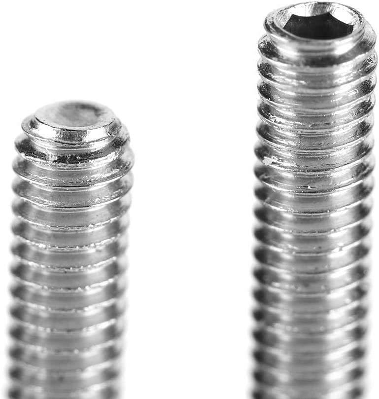 Hardware Fasteners for Mechanical Installation and Fixation Stainless Steel M3 A2-DIN916 Hexagon Socket Headless Screws 212Pcs Flat Head Screws