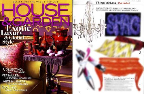 House & Garden Magazine September 2006 - Exoctic Luxury & Global Style OVERSIZE