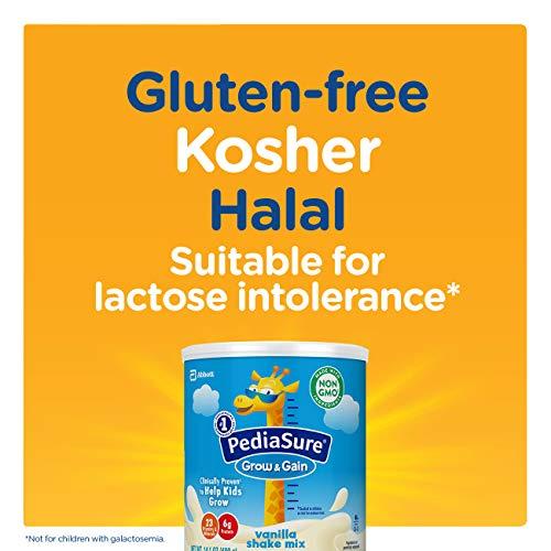 PediaSure Grow & Gain Vanilla Shake Mix, Nutrition Shake for Kids, 14.1 oz, 6 count by Pediasure Powder (Image #12)