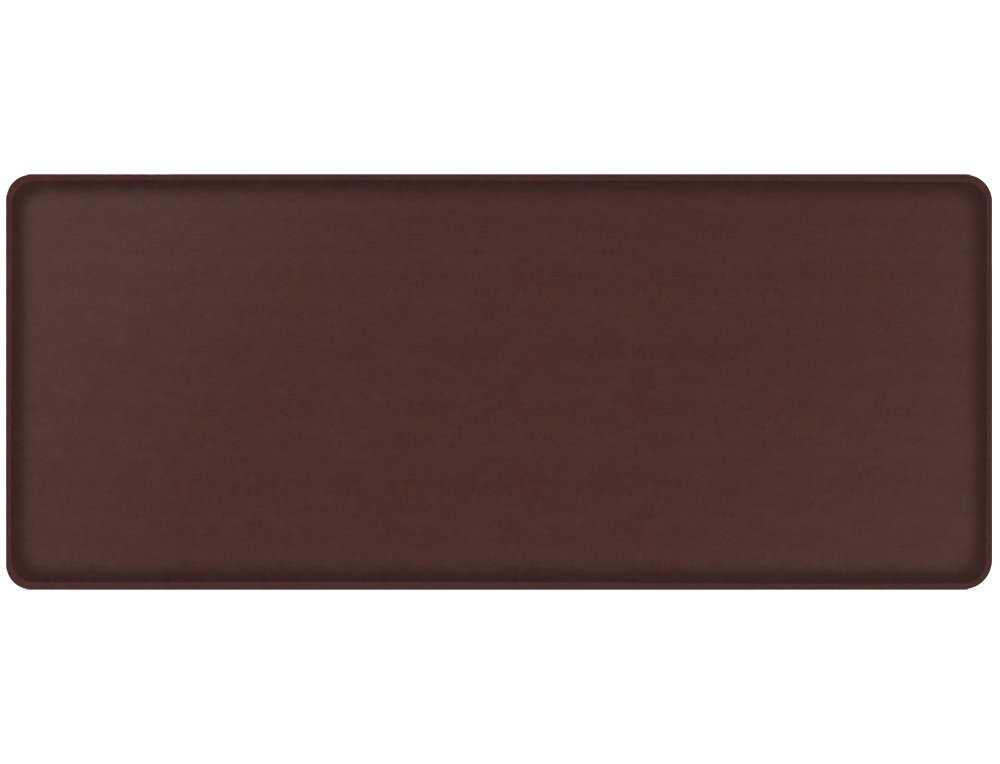 "GelPro Classic Anti-Fatigue Kitchen Comfort Chef Floor Mat, 20x48"", Vintage Leather Rustic Sherry Stain Resistant Surface with 1/2"" Gel Core for Health and Wellness"
