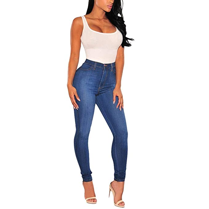 Augustmarie Skinny Jeans para Mujer Stress Overret Curvy ...