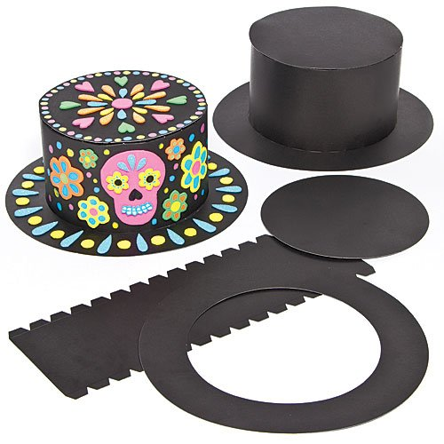 Baker Ross Black Top Hat Craft Kits for Children to Decorate and Wear (Pack of 3) - Perfect for Dress Up or Costume Parties for Kids ()