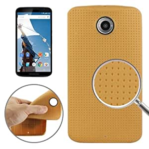 Mesh Plaid Texture TPU Case for Google Nexus 6 (Gold)