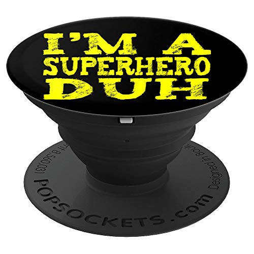 EASY SUPERHERO HALLOWEEN COSTUME Gifts Lazy Last Minute PopSockets Grip and Stand for Phones and Tablets -