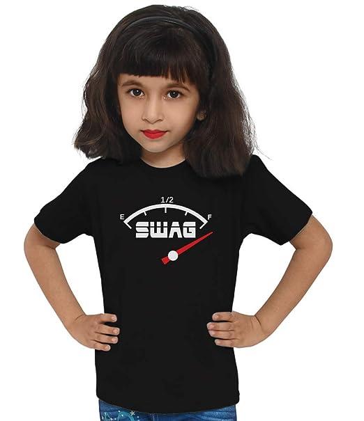 Swaggy Kids Swag Speedometer Printed Black Unisex\u0027s Funny