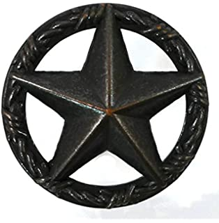 Star With Barbwire Edge Cabinet Knob Set Of 8 Oil Rubbed Bronze