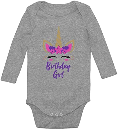 Birthday Girl Unicorn Outfit Gifts for Girls/' Toddler//Kids Long sleeve T-Shirt