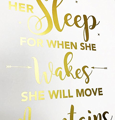 Whenever You Feel Overwhelmed Remember Whose Daughter Inspirational Gold Foil Print Posters 8X10 in FOLE INC Motivational Wall Art Quotes
