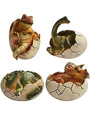 Dinosaur Easter Eggs Piggy Bank Brachiosaurus, Stegosaurus, Triceratops, Tyrannosaurus Rex Money Bank for Boys Kids Girls,4PCS