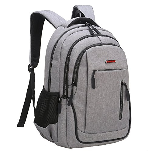 Travel Laptop Backpack, Business Laptop Backpacks USB Charging Port Headphone Interface,Water Resistant College School Computer Bag Women & Men Fits 15.6 inch Laptop Notebook(Gray) by MEWAY (Image #3)