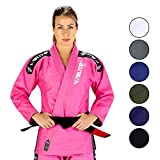 Elite Sports New Item IBJJF Ultra Light BJJ Brazilian Jiu Jitsu Gi w/Preshrunk Fabric & Free Belt (Pink, WA2)