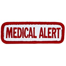 "MEDICAL ALERT Sew-on Service Dog Embroidered Patch - 3"" X 1"""