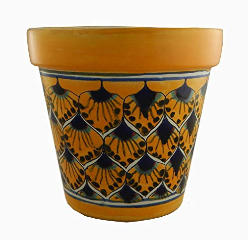 Ceramic Planter Talavera (Mexican Talavera Planter Ceramic Flower Pot Folk Art Pottery Garden Handmade #33)