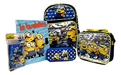 d4bab13315f2 Amazon.com: Despicable Me Minions Large 16 Rolling Backpack, Lunch ...