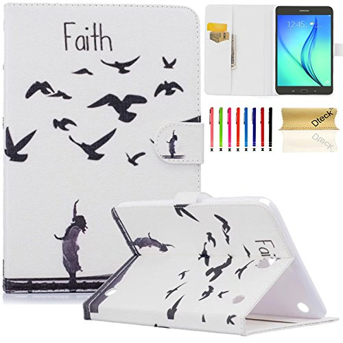 Galaxy Tab A 8.0 Case, Dteck(TM) PU Leather Card Slots Case [Magnetic Buckle] Flip Stand Wallet Pocket Protective Cover with Auto Wake/Sleep for Samsung Galaxy Tab A 8.0 SM-T350 Tablet (05 Faith) (Faith Buckle)