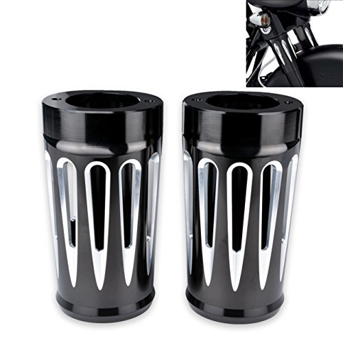 - KaTur Motorcycle Upper Fork Boots Shock Absorber Cover Cap for Harley Tourring and Trike Models 1980-2013