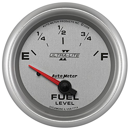 Auto Meter 7714 Ultra-Lite Pro II 2-5/8'' 0 E/ 90 F Short Sweep Electric Fuel Level- GM Gauge by Auto Meter