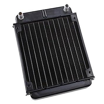 Radiador - TOOGOO(R) Negro Intercambiador de calor de aluminio Radiador para Computadora de