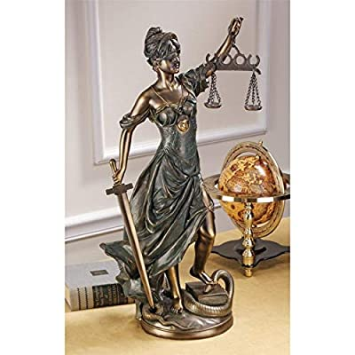 Design Toscano Goddess of Justice Themis Large Statue: Home & Kitchen