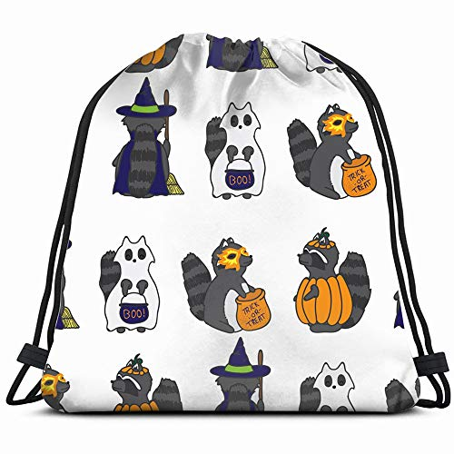 Repeat Halloween Raccoon Ghost Holidays Animal Drawstring Backpack Gym Dance Bags For Girls Kids Bag Shoulder Travel Bags Birthday Gift For Daughter Children Women]()
