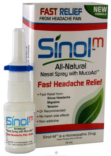 AllNatural Nasal Sprays with Capsaicin Headache Relief 15 ml