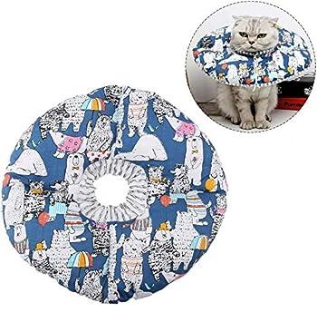 Smandy Collar de protección para Mascotas, Círculo de Borde Suave para Mascotas Collar de protección contra mordidas Collar de Seguridad Collar para ...