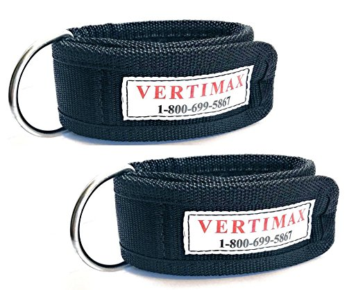 Photo VertiMax Premium Ankle Straps Designed specifically for use Platforms &/or Raptors. Fitness and Training Ankle Strap Attachment Set can be Used with Cable Equip or Resistance Tubes.