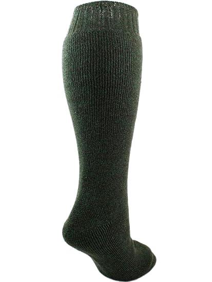 Hombre Mezcla Lana Calcetines De Botas De Agua Verde Marrón 6-11