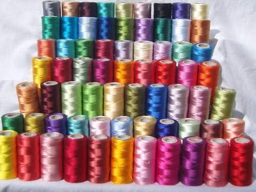 Set de 50 x Bobinas de hilo de Seda para bordar de máquina de ...