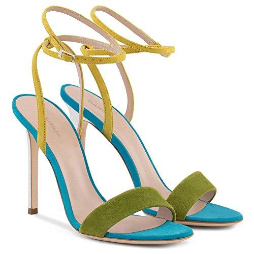 L@YC Frauen High Heels Frühling Sommer Herbst Winter Club Maßgeschneiderte Materialien Hochzeit & Abend Blue