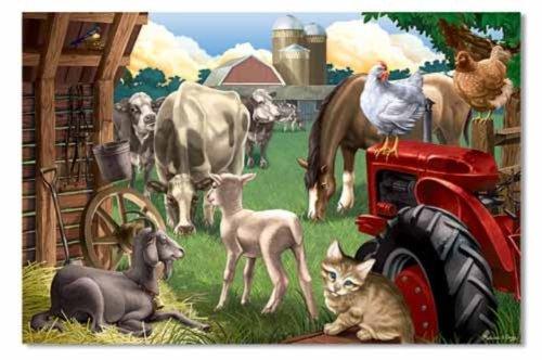 Melissa & Doug Farm Friends Floor Puzzle - 24 ()