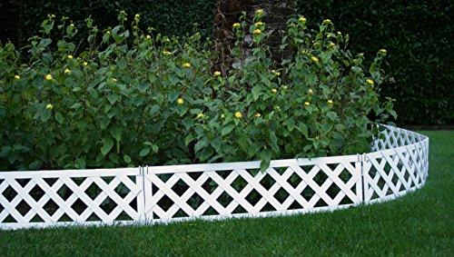 Petite barrière, bordure NEUILLY 3 m, bois composite . Peinte en ...