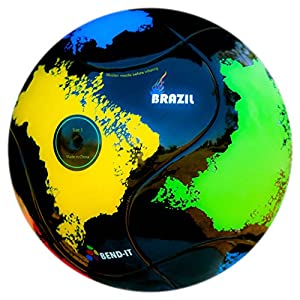 Bend-It Soccer, Brazil-It, Soccer Ball Size 5 With VPM and VRC Technology