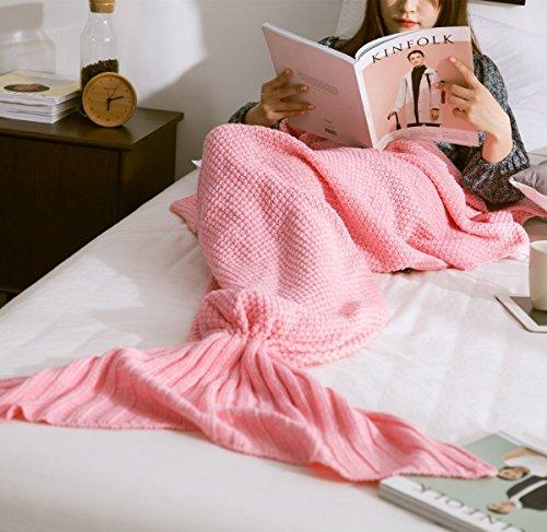 MZPRIDE Little Mermaid Throw Blanket Best Beach Blankets 28''*55'' (Pink)