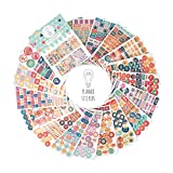 [New] LUX Planner Stickers - 1100 Stickers (19 Sheets) - Cute Reminders and Motivational Labels Your Productivity Journal/Daily Diary/Weekly Organizer - Best Calendar Accessory - Academic/Office