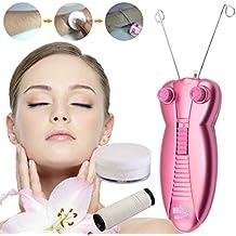 LuckyFine Electric Women Facial Hair Remover Epilator Hair Removal Physical Face Body Makeup Tool Safe Cotton Thread Epilator Shaver Pink