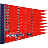 Rico NHL Capitals 8 Pc Mini Pennant Pack Sports Fan Home Decor, Multicolor, One Size