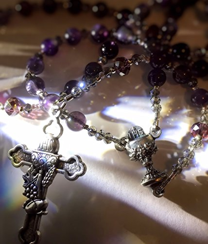 - Amethyst First Communion Rosary and Bracelet