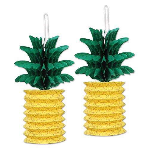 Beistle Pineapple Lanterns 10 Inch Yellow