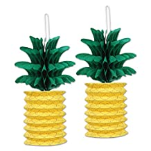 Beistle Pineapple Paper Lanterns, 10-Inch