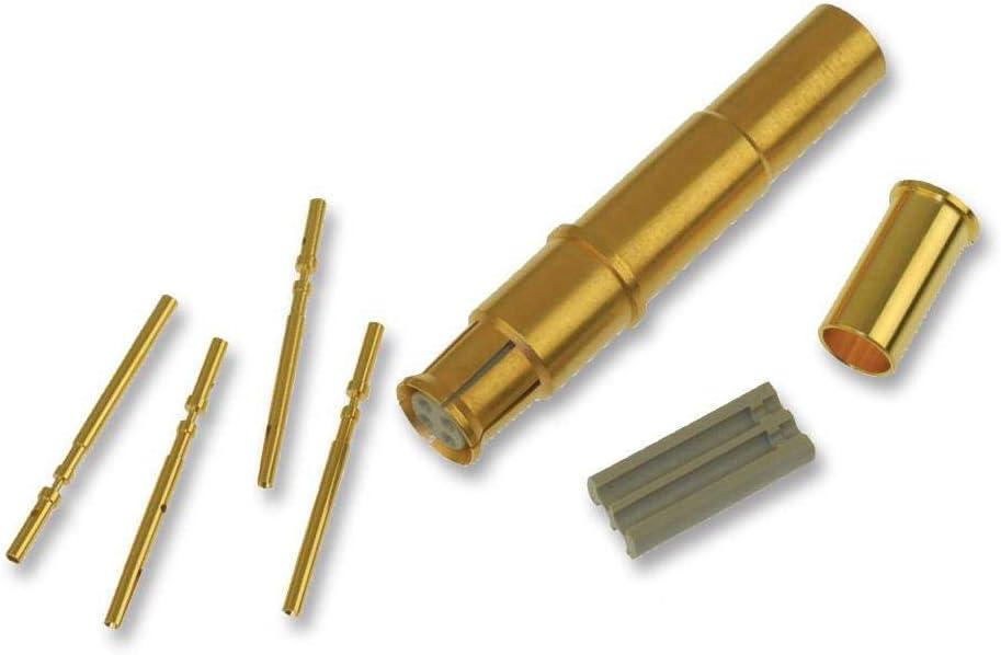 ARINC 600 BKA Series 244-0011-000 244-0011-000 Rectangular Power Contact Socket Gold Plated Contacts Crimp Copper Alloy