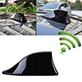 SFASTER Universal Car Antenna Aerial Shark Fin AM/FM Radio Signal for Auto SUV Truck Van with Adhesive Base Waterproof (Black)